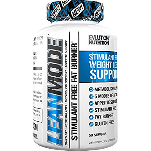 Evlution Nutrition Lean Mode Stimulant-Free Weight Loss Support with Garcinia Cambogia, Carnitine, CLA, and Green Tea Leaf extract (50 Servings)